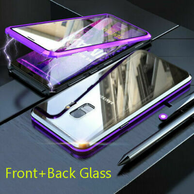 Front&Back Tempered Glass Magnetic Case Cover For Samsung S10 Plus S9+ Note9 8