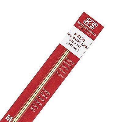K S Precision Metals 8128 532 X 12 Round Brass Tube