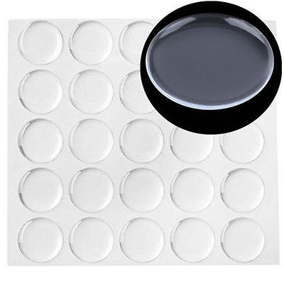 300pcs 1 inch Transparent Dome Circle Epoxy Clear Stickers For Bottle Cap Crafts