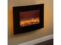 Quattro 2kW Wall Mounted Electric Fire with Full Remote Control.