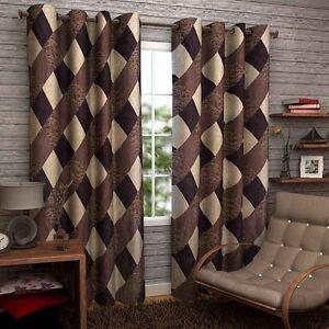 SA Premium Brown Box 7Ft Door Curtains-Set of 2