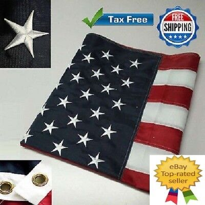 G128 � American Flag US USA | 3x5 ft | Embroidered Stars, Sewn Stripes
