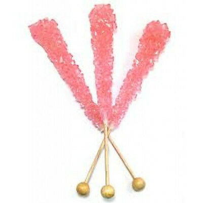 ROCK CANDY CRYSTAL STICKS BUBBLE GUM, WRAPPED 20 PIECES!!!