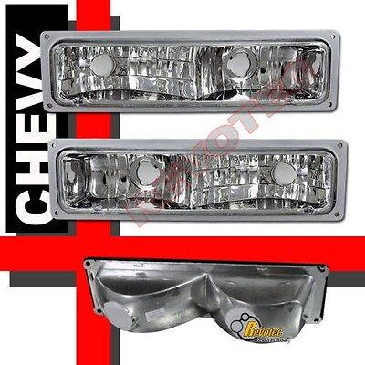 88-98 Chevy GMC C/K C10 1500 2500 3500 Pickup Chrome Bumper Parking Lights Lamps