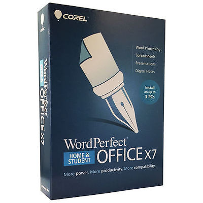 Corel Wordperfect Office X7 Home & Student 3pc - Retail B...