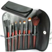 Red Make Up Brush Set