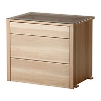 Ikea KOMPLEMENT Interior Chest of Drawers - White Stained Oak