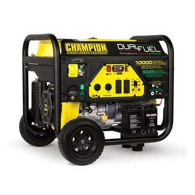 Champion 8000 Watt Quiet Electric Start Rv Ready Dual Fuel Generator Damaged
