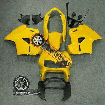 Motorcycle Fairing Bodywork Panel Kit Set Fit Honda VFR800 1998-01 yellow black