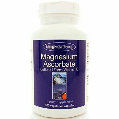 NEW Allergy Research Group Magnesium Ascorbate Vitamin C Supplement 100 Capsules Allergy Research Group Magnesium