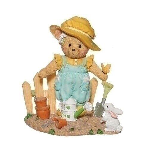Cherished Teddies MOTHER BEAR IN GARDEN Bunny Bird Teddy Bears Figurine NIB