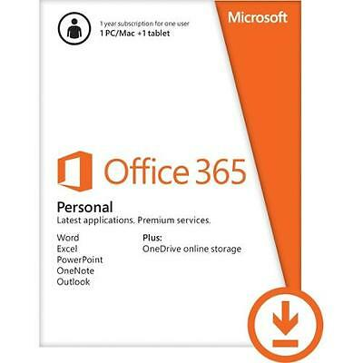 Office 365 Personal Subscription W  Word  Excel  Powerpoint  Onenote   Outlook