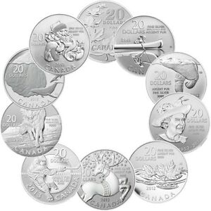 20 for 20 Royal Canadian Mint's $20 Fine Silver Coins