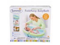 Summer Foldaway baby bath BNIB unwanted Newborn - to - toddler