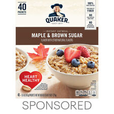 Quaker Instant Oatmeal, Maple Brown Sugar Flavor, 40 Packets