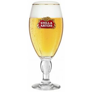 4 x STELLA ARTOIS CHALICE OFFICIAL CE STAMPED STEMMED PINT GLASS BRAND NEW