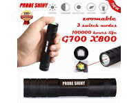 Probe Shiny G700 X800 2000LM LED Waterproof Torch