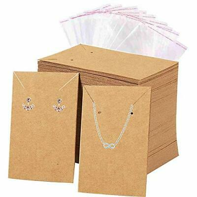 Earrings Necklace Display Cards W 100 Self-sealing Bag For Earrings Necklaces