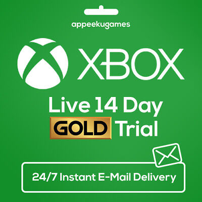 Used, XBOX LIVE 14 DAY (2 WEEKS) GOLD TRIAL CODE INSTANT DISPATCH 24/7 for sale  Shipping to United States