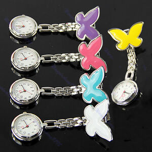 Cute-Butterfly-Nurse-Clip-on-Fob-Brooch-Pendant-Hanging-Pocket-Watch-Fobwatch
