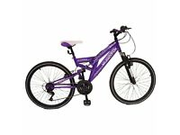 "MuddyFox Venus Dual Suspension 24"" Children's Bike - Pearlized Purple - Girl's"