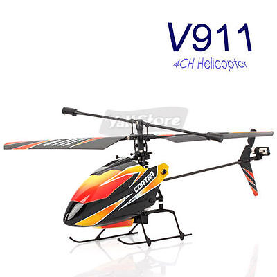 4CH 4 Channel 2.4GHz Single Blade RC Radio Control Helicopter with Gyro V911 RTF on Rummage
