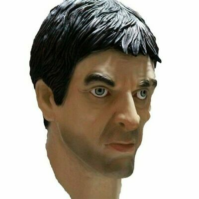 Scarface Al Pacino Mask Latex Human Head Mask Movie Fancy Dress Party - Scarface Halloween Mask