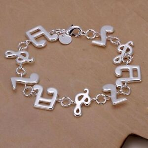 New 925 Stamped Stirling Silver Music Note Braclet