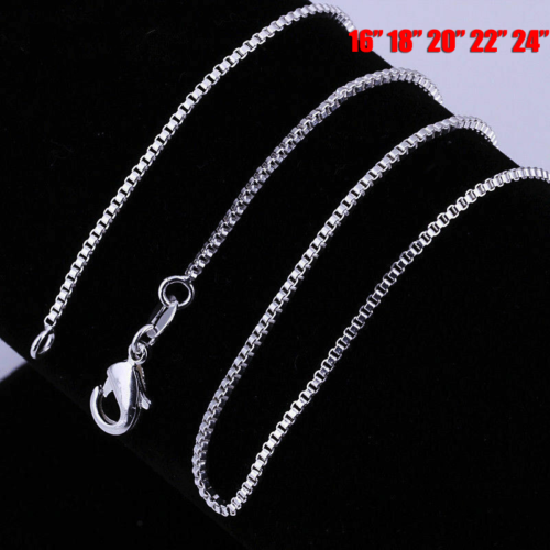 Wholesale in bulk Silver Stainless Steel Strong Box Chain Ne