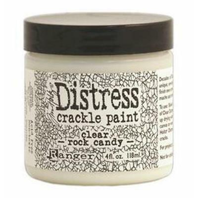 Tim Holtz Distress Crackle Paint 4 Oz Jar  Clear Rock Candy New