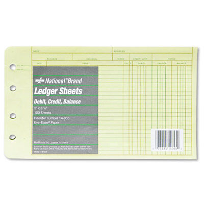 Four-ring Binder Refill Sheets 5 X 8 12 100pack