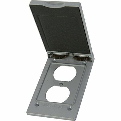 Greenfield Cdrvps Series Weatherproof Electrical Outlet Box Cover Gray