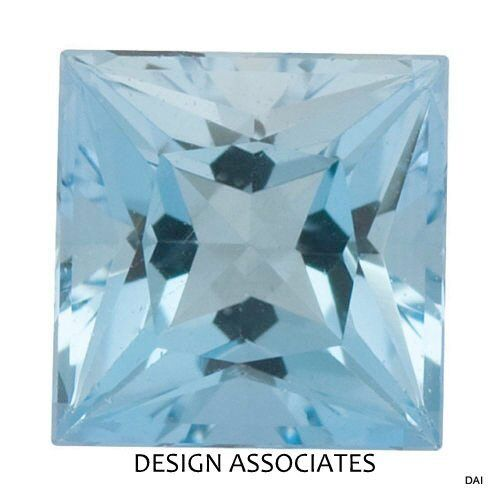 AQUAMARINE 8 MM SQUARE CUT OUTSTANDING BLUE COLOR ALL NATURAL