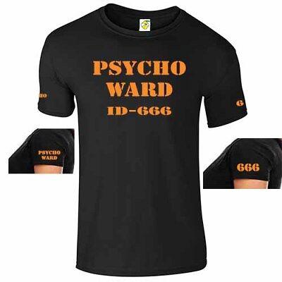 PSYCHO WARD PATIENT T SHIRT - MENTAL ASYLUM HALLOWEEN COSTUME PSYCHO PATIENT 666](Mental Patient Halloween Costume)