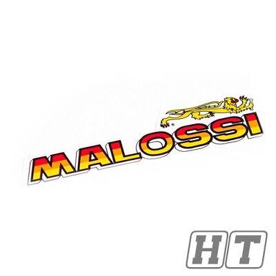 STICKER STICKER MALOSSI LION LOGO LETTERING MEDIUM 131 X 31MM FOR MOT