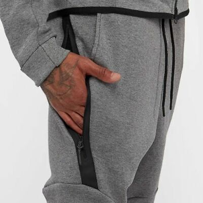 NWT MEN'S NIKE TECH FLEECE CARBON HEATHER BLACK JOGGER PANTS SIZE XXL FAST SHIP