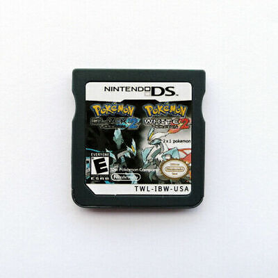 Pokemon Black 2 and White 2 US 2 in 1 Games 3DS 2DS DS Video Game Cartridge