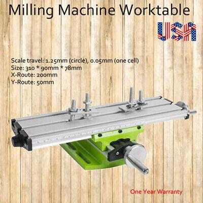 2 Axis Aluminium Alloy Cross Slide Vise Work Table Bench Milling Fixture Usa Fda