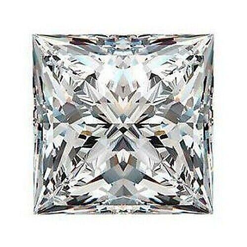 New .10 cttw 2.5MM Lab Lannyte Princess Cut Simulated Diamond Loose Stone