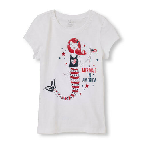 New Girls TCP The Children's Place All American Mermaid Top