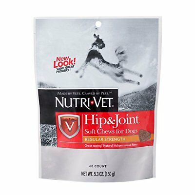 Nutri-Vet Hip & Joint Regular Strength Soft Chew For Dogs, 5.3 Oz, 60-Count