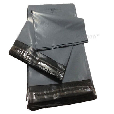 25 Strong Grey Mailing Packaging Plastic Bags Large Size 17