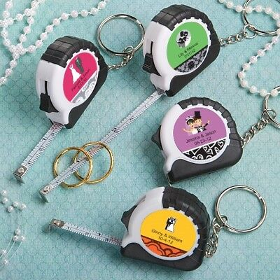 150 Personalized Tape Measure Keychain Baby Shower Christening Party Gift Favors - Personalized Keychains Bulk