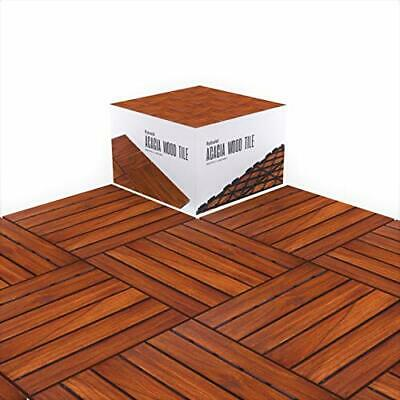 Acacia Wood Outdoor Flooring Tile Wooden Interlocking Patio Tiles with UV Pro...