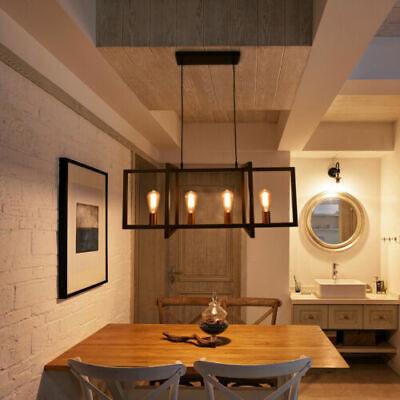 Industrial Kitchen Island Light Hanging Pendant Light Ceiling Fixture 4 Lights