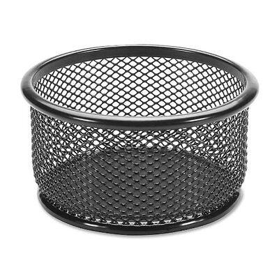Lorell Mesh Paper Clip Holder - 3.8 X 3.9 - Steel - 1 Each - Black Llr84150