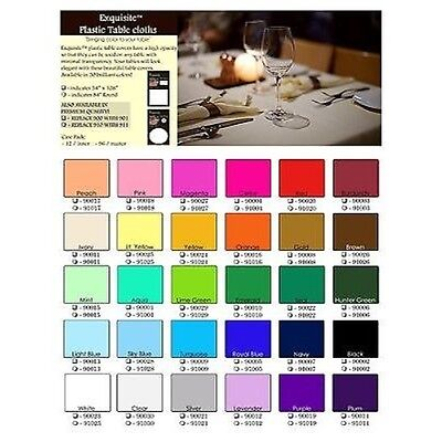 Solid Color Heavy Duty Premium  Plastic TableCloth 54