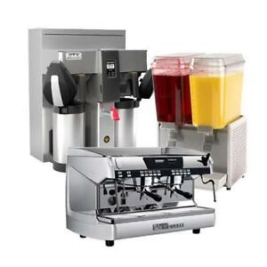 Make, Hold, and Serve a Variety of Hot and Cold Drinks with Our Beverage Equipment - New & Used Available!