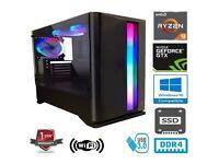 AMD RYZEN 9 3900X 12CORE 32G RAM 500G SSD 2TB HD GEFORCE GTX1660 SUPER GAMING PC