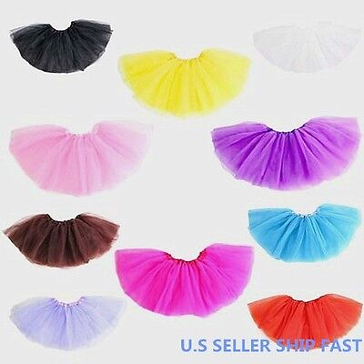 GIRLS CANDY COLOR TUTU PARTY  SKIRTS BALLET DANCE COSTUME SKIRT FOR GIRLS
